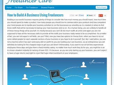 This is official site for FreelancerCare
