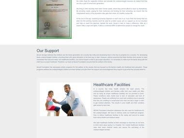 Wordpress Website for Sevak Foundation