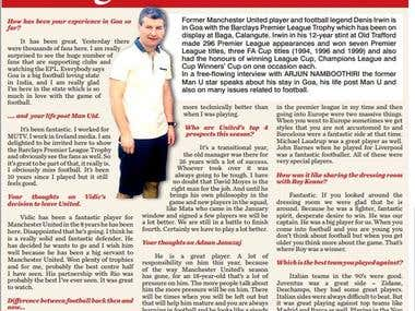 Interview of Manchester United player, Denis Irwin