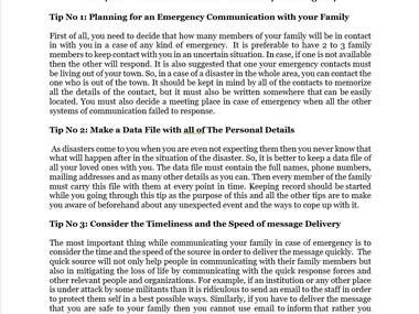 """""""15 Tips of Communication with Your Family in Emergency"""""""
