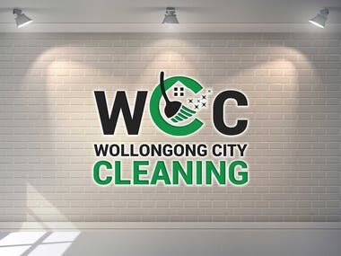 Update logo icon & font for Cleaning Company