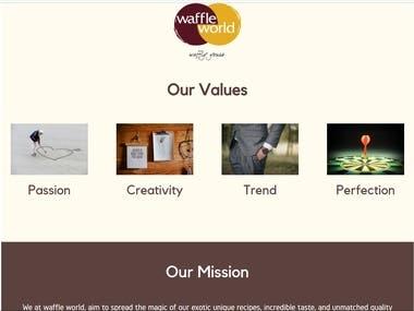 Website for a cafe