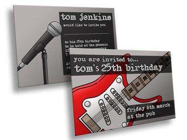 Music Themed Birthday Invitation Design