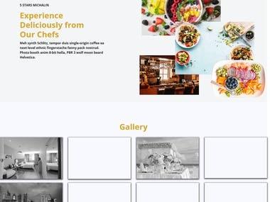 Hotel website design.