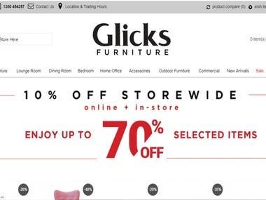 Glicks Furniture | Ecommerce