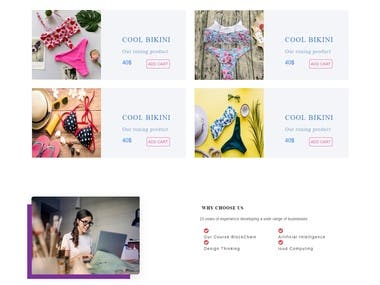 bikini web page