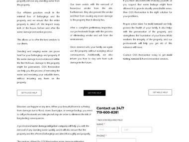 Website Content - Cos Restoration