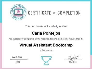 VABootcamp Certificate