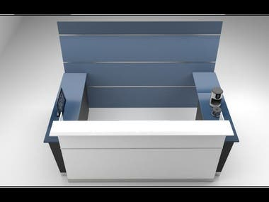 3D office furniture modeling and render