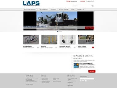 Website for Local Area Protective Services - WordPress