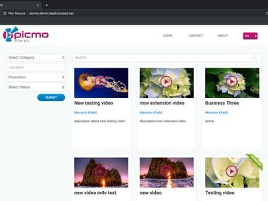 Picmo Web Application