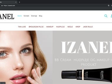 izanel eCommerce website