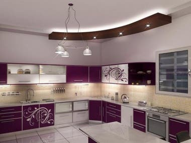 3ds Max Modeling interior kitchen