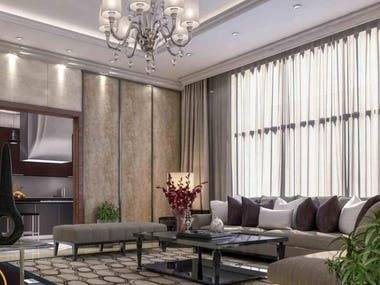3ds Max Modeling interior design with photoshop