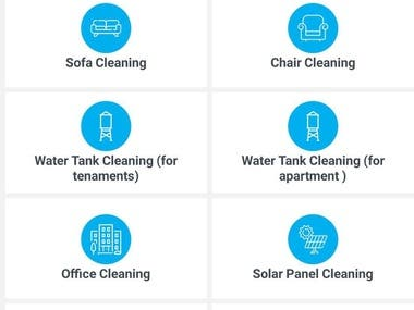 ANDROID AND IOS APP FOR CLEANING COMPANY