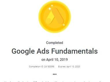 Google Adwords Fundamentals Certification