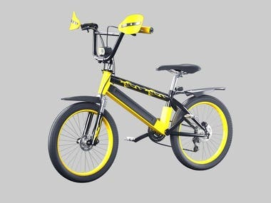 electric cycle and normal mountain cycle