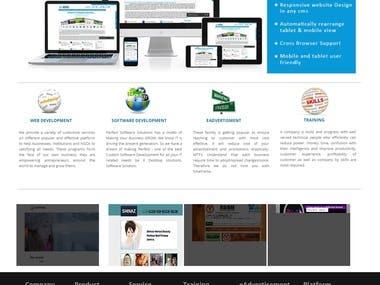 design and develop a website Own Website