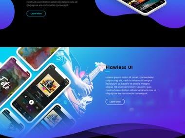 web design of mockup design