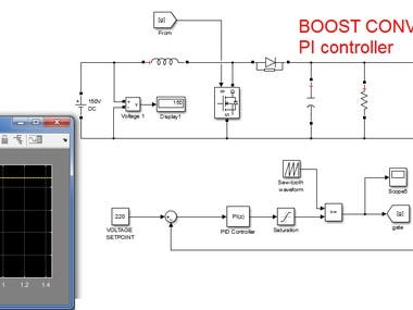 DC_DC BOOST CONVERTER WITH PI CONTROLLER