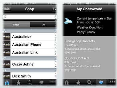 Chatswood Guide iPhone Application