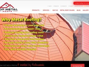 Wordpress Website-Topmetalroofs.ca