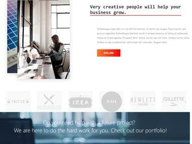 Design a Corporate Website.