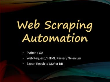 Web Scraping & Automation