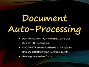 Document Auto-Processing