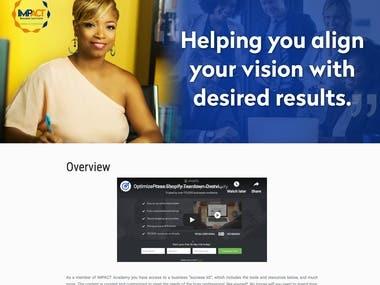 wordpress website with optimizepress