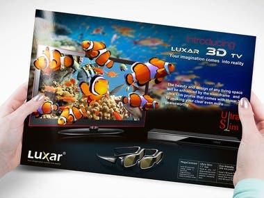Brochure Design For Luxar Smart Tv