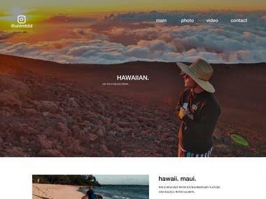 Showreel Website design