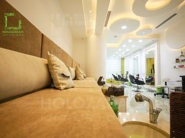 Interior design for a beauty center in Amman