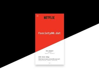 DIseño de interfaz Netflix