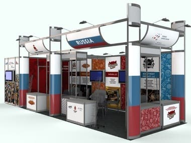 Draft Render of the exhibition stand