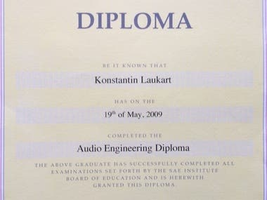 Audio Engineer Diploma