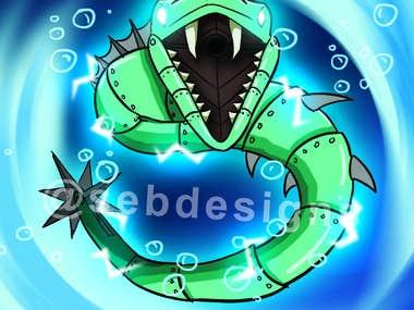 Eel Robot monster