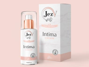 Packaging intime cream