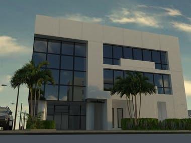 building facade rendering