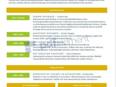 Cv, Resume Writing & Design