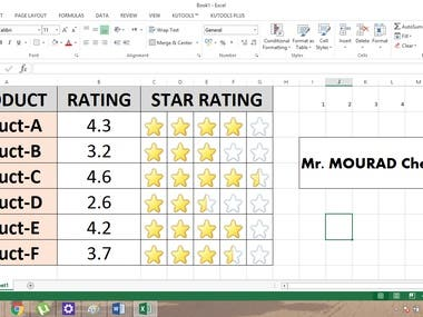 Analysis & Renting. 5 Star Renting Example-Excel