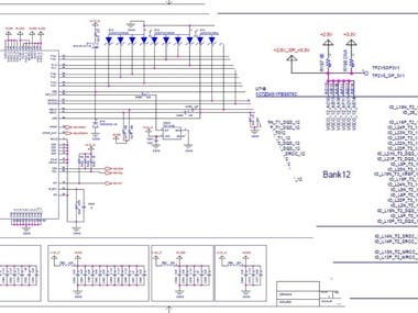 High Speed Mixed Signal Board schematic and Layout collages