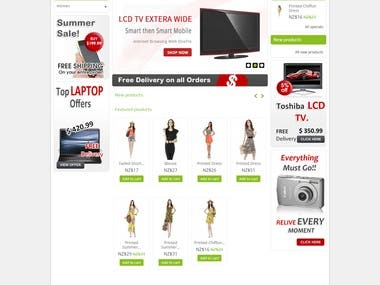 design and develop a E-Commerce website