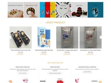 Design and develop an E-commerce website
