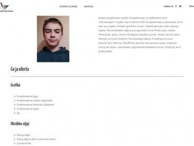 Strona Grafiktanu portfolio