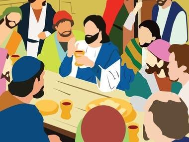 Holy Week Illustration