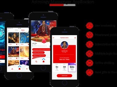Astrologers Messenger App with Live Broadcasting