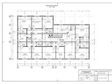 Floor plan of a building with concrete diaphragm