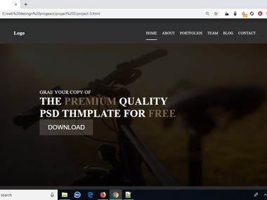 EXPERIENCE WORKING BY PSD TO HTML