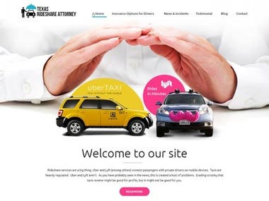 Texas Rideshare Attorney - WordPress Project